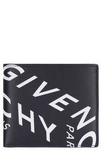 Leather flap-over wallet, Wallets Givenchy man