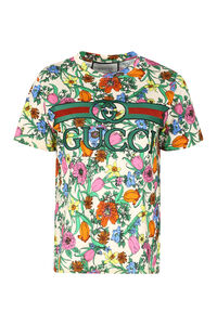 Printed cotton T-shirt, T-shirts Gucci woman