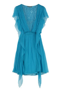 Ruffled chiffon dress, Mini dresses Alberta Ferretti woman
