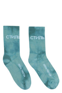 Logo cotton blend socks, Socks Heron Preston man