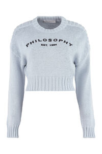 Long sleeve crew-neck sweater, Crew neck sweaters Philosophy di Lorenzo Serafini woman