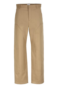 Cotton-twill bush-trousers, Casual trousers Burberry man