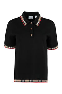 Knitted wool polo shirt, Polo shirts Burberry woman
