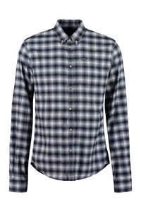 Cotton button-down shirt, Checked Shirts Dsquared2 man