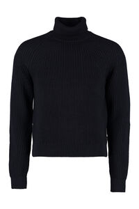 Gilo turtleneck virgin-wool pullover, Turtleneck BOSS man
