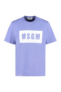 Logo print t-shirt, Short sleeve t-shirts MSGM man