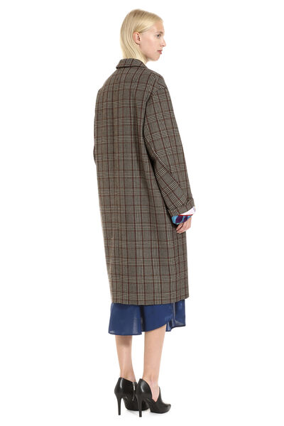 Double-breasted wool coat