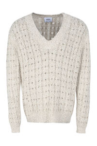 Mist cable knit pullover, V-necks Nanushka man