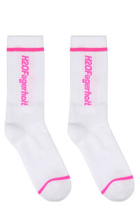 Terry cloth socks with logo, Socks H2OFagerholt woman