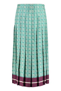 Printed pleated skirt, Printed skirts Gucci woman