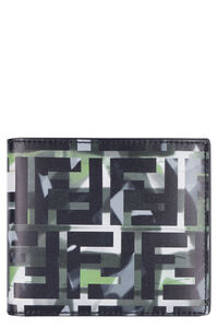 Printed leather wallet, Wallets Fendi man