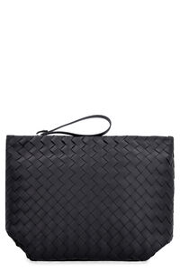 Woven leather pouch, Poches Bottega Veneta man