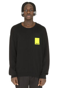 Cotton crew-neck sweater, Crew necks sweaters MSGM man
