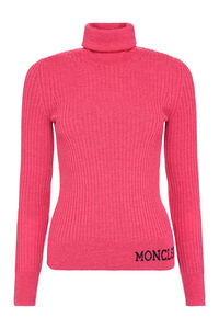 Ribbed knit turtleneck pullover, Turtleneck sweaters Moncler woman