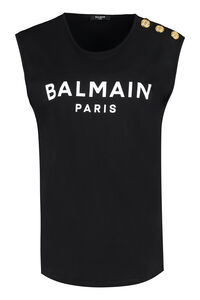 Printed jersey top, Tanks and Camis Balmain woman
