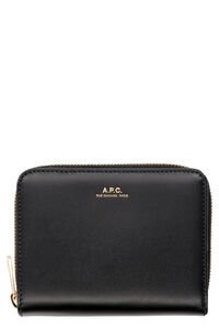 Small leather flap-over wallet, Wallets A.P.C. woman
