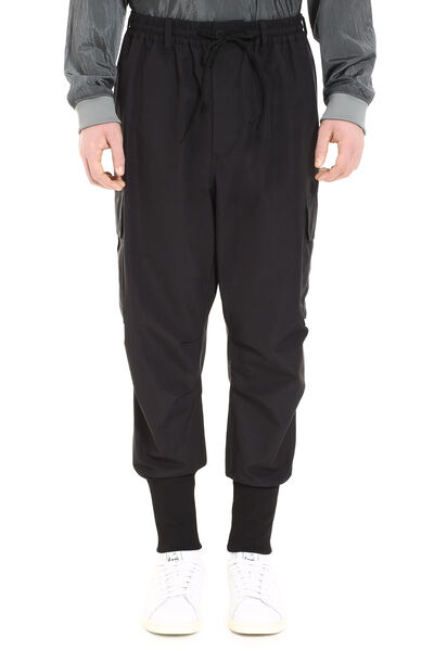 Techno fabric track pants