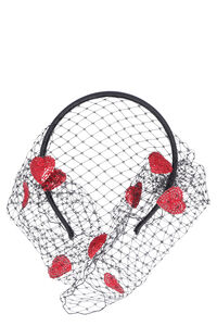 Red Veil headband, Hairs Accessories Red V woman