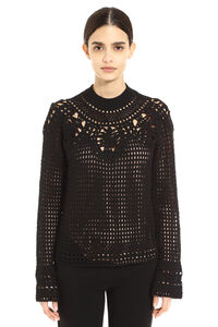 Merino wool crew-neck sweater, Crew neck sweaters Alberta Ferretti woman
