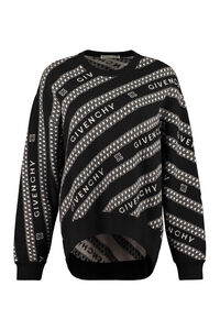Jacquard wool pullover, Crew neck sweaters Givenchy woman