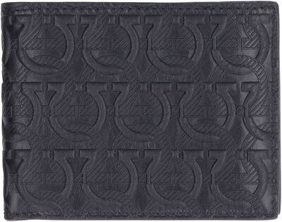 All-over logo print flap-over wallet