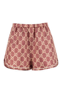 Printed silk-twill shorts, Shorts Gucci woman