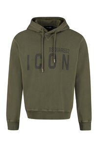 Icon cotton hoodie, Hoodies Dsquared2 man