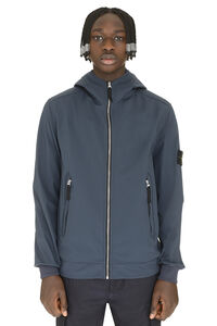 Hooded techno fabric raincoat, Raincoats And Windbreaker Stone Island man