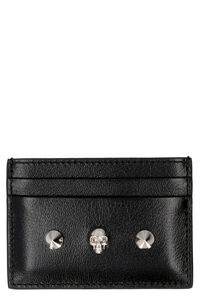 Logoed leather card holder, Wallets Alexander McQueen woman