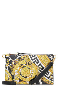 Quilted leather clutch, Clutch Versace woman