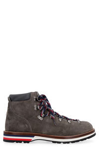 Peak suede lace-up ankle boots, Lace-up boots Moncler man