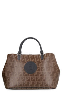 All over logo canvas tote, Totes Fendi man