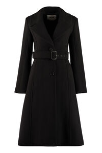 Virgin wool coat, Knee Lenght Coats MSGM woman