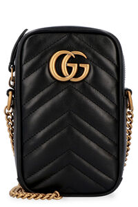 GG Marmont quilted leather mini crossbody bag, Shoulderbag Gucci woman