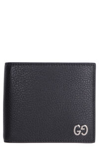 GG detail leather wallet, Wallets Gucci man