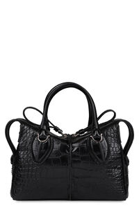 D-Styling crocodile print leather handbag, Top handle Tod's woman