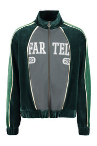 Chenille full-zip sweatshirt, Today is the last day of discount. Telfar woman