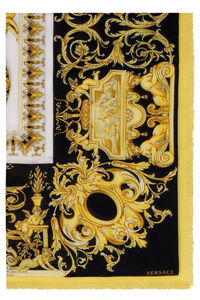 Frayed edges printed shawl, Scarves Versace woman