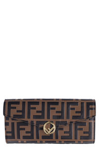 Leather continental wallet, Wallets Fendi woman