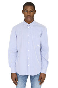 Striped poplin shirt, Striped Shirts MSGM man