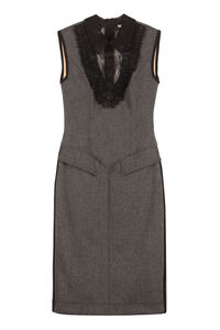 Wool midi sheath-dress, Midi dresses Fendi woman