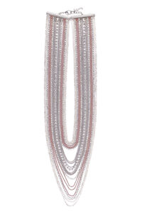 Aurora chain necklace with embellished bead, Necklaces Fabiana Filippi woman