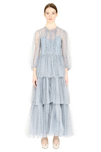 Glitter polka dots tulle dress, Maxi dresses Red Valentino woman