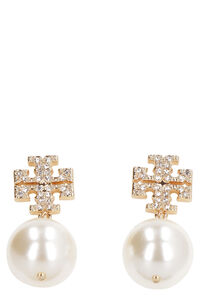 Logo pearl drop earring, Earrings Tory Burch woman