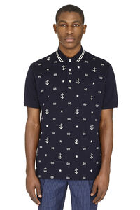 Embroidered cotton-piqué polo shirt, Short sleeve polo shirts Gucci man