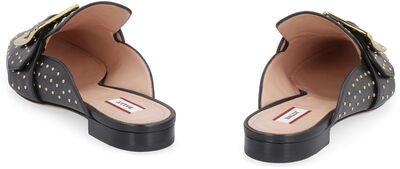 Janesse leather slippers