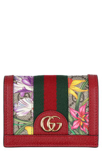 Ophidia GG Flora fabric wallet, Wallets Gucci woman