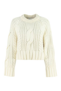 Cable knit pullover, Crew neck sweaters Parosh woman