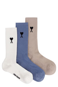 Three pair pack cotton socks, Socks AMI man