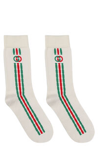 Logo cotton blend socks, Socks Gucci woman